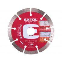 Kotouč diamantový řezný segmentový Long Life, 125x22,2mm, suché řezání, EXTOL PREMIUM