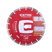 Kotouč diamantový řezný segmentový Long Life, 230x22,2mm, suché řezání, EXTOL PREMIUM