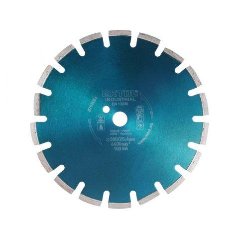 Kotouč diamantový řezný segmentový na ASFALT, 350x25,4mm, suché i mokré řezání, EXTOL INDUSTRIAL