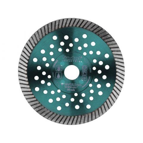 Kotouč diamantový řezný turbo Fast Cut, 115x22,2mm, suché i mokré řezání, EXTOL INDUSTRIAL