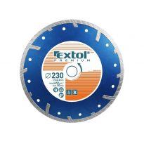 Kotouč diamantový řezný turbo plus, 115x22,2mm, EXTOL PREMIUM