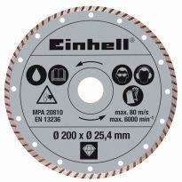 Kotouč diamantový turbo 200x25,4 mm k řezačkám TPR 200/2 a RT-SC 560 U Einhell