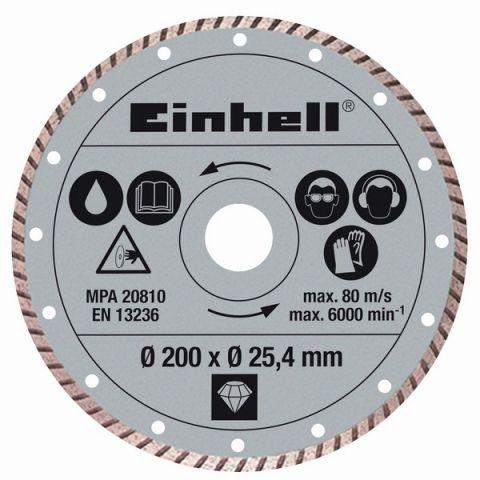 Kotouč diamantový turbo 250x25,4 mm k řezačkám STR 250 a RT-SC 570 L Einhell