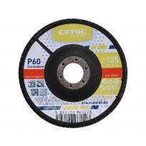 Kotouč lamelový šikmý korundový, P60, 125mm, KORUND, EXTOL CRAFT