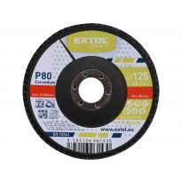 Kotouč lamelový šikmý korundový, P80, 125mm, KORUND, EXTOL CRAFT