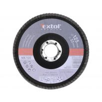 Kotouč lamelový šikmý, P120, 125mm, sklotextilní podložka, korund, EXTOL PREMIUM