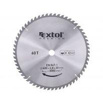 Kotouč pilový s SK plátky, 400x2,8x30mm, 60T, šířka SK plátků 3,8mm, EXTOL PREMIUM