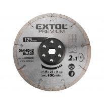 Kotouc řezný, diamantový, 125x20mm EXTOL PREMIUM