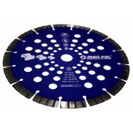 Kotouč řezný diamantový na žulu, beton, mramor, 230x22.2x15mm MAR-POL