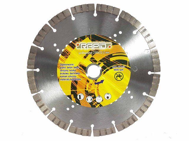 Kotouč řezný diamantový na žulu, beton, mramor, 350x10x25,4mm RAPID
