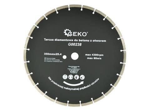 Kotouč řezný diamantový segmentový na beton 350x25,4mm GEKO Nářadí-Sklad 1   0