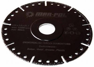 Kotouč řezný diamantový univerzální, 125x2.6x22.2mm MAR-POL Nářadí-Sklad 1 | 0.1