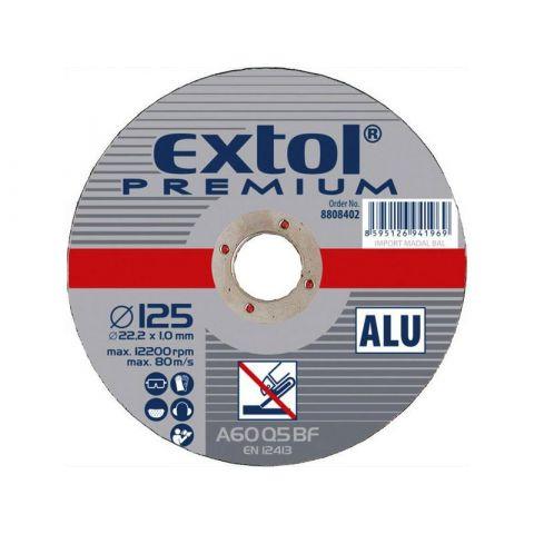 Kotouč řezný na Alu, 115x1,0x22,2mm, EXTOL PREMIUM