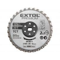 Kotouč řezný na kov a dřevo, 125x20x16mm, 38T EXTOL PREMIUM