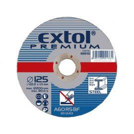 Kotouč řezný na ocel, 125x1,0x22,2mm, EXTOL PREMIUM