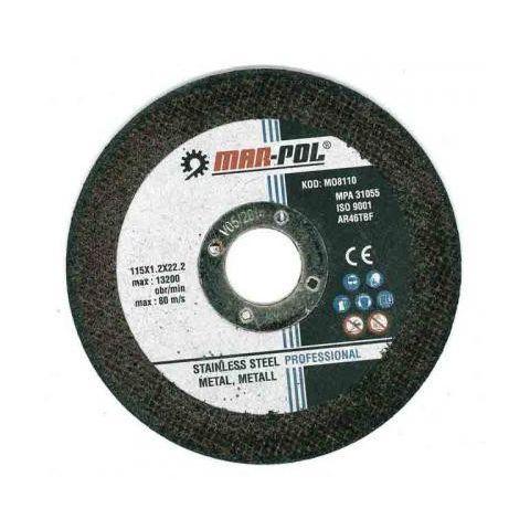 Kotouč řezný na ocel, nerez, 115x1,2x22,2mm MAR-POL