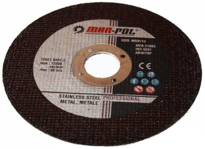 Kotouč řezný na ocel, nerez, 125x1,2x22,2mm MAR-POL