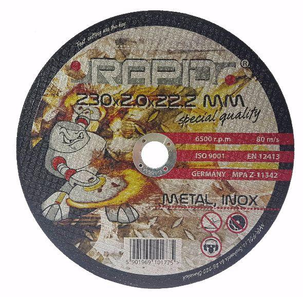 Kotouč řezný na ocel, nerez, 230x2,0x22,2mm RAPID