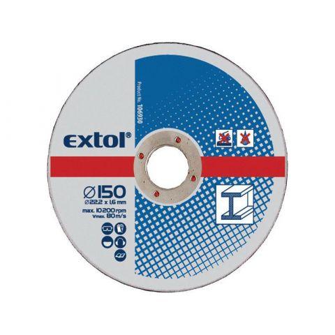 Kotouče řezné na kov, 5ks, 150x2,5x22,2mm, EXTOL CRAFT