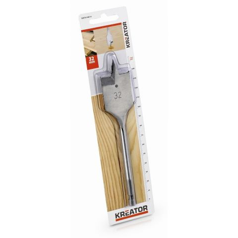 KRT010814 - Plochý vrták do dřeva 32 x 152 mm KREATOR