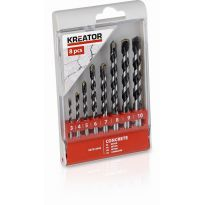 KRT012402 - 8 ks Vrtáků do betonu SET 3-10 mm KREATOR