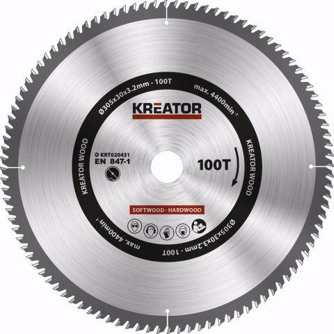 KRT020431 - Pilový kotouč na dřevo 305mm, 100T KREATOR