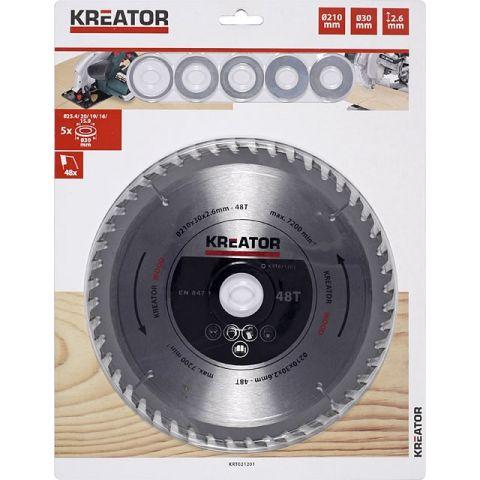 KRT021201 - Pilový kotouč na dřevo 210 mm, 48 Z KREATOR