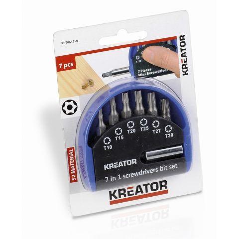 KRT064250 - Sada bitů 7 ks TORX KREATOR