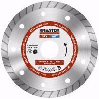 KRT083100 - Diamantový kotouč celoobvodový 115mm PREMIUM TURBO KREATOR