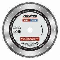 KRT085102 Diamantový kotouč celoobvodový 230mm EXPERT TURBO KREATOR