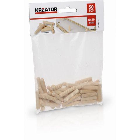 KRT110101 - Truhlářské kolíčky 6 x 30 mm (50 ks) KREATOR