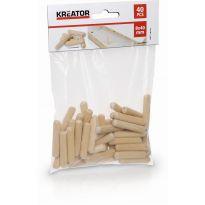 KRT110102 - Truhlářské kolíčky 8 x 40 mm (40 ks) KREATOR