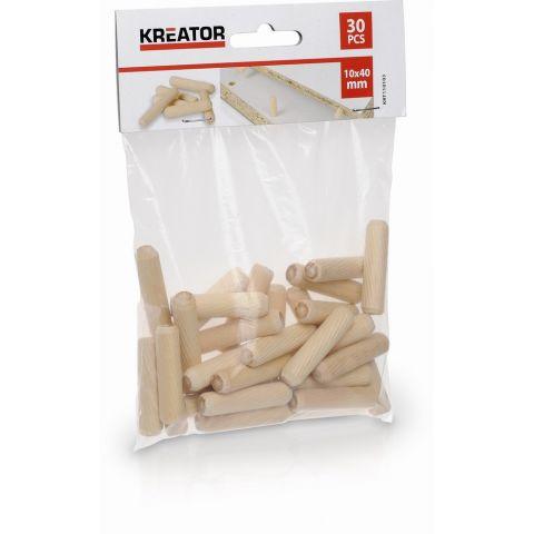 KRT110103 - Truhlářské kolíčky 10 x 40 mm (30 ks) KREATOR