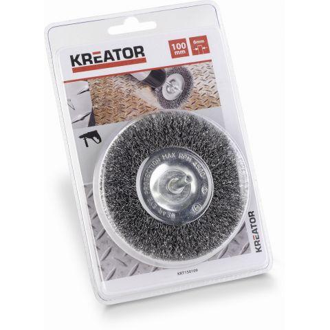 KRT150109 - Brusný ocelový kartáč 10mm KREATOR