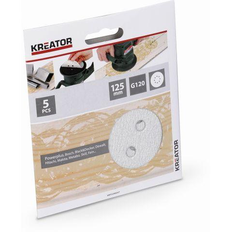 KRT230557 5x Brusný papír 125 mm na barvu G120 KREATOR