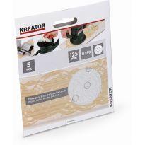 KRT230558 5x Brusný papír 125 mm na barvu G180 KREATOR