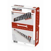 KRT500003 - Sada oboustranných otevřených klíčů 6-32mm - 12ks KREATOR
