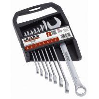 KRT500007 - Sada klíčů očko/otevřený 8-19mm 8ks KREATOR