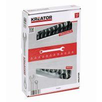 KRT500009 - Sada klíčů očko/otevřený 8-22mm 12ks KREATOR