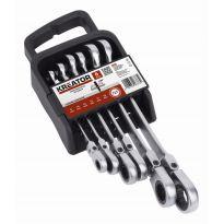 KRT500014 - Sada kloubových klíčů otevřený/očko-ráčnový 6ks KREATOR