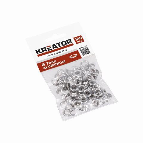 KRT616106 - Kroužky hliník 7mm 100ks KREATOR