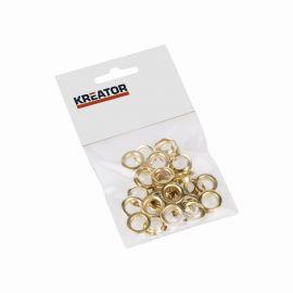 KRT616108 - Kroužky mosaz 10mm 25ks KREATOR
