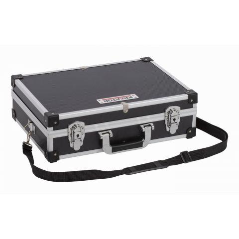 KRT640101B Hliníkový kufr 420x300x125mm černý KREATOR