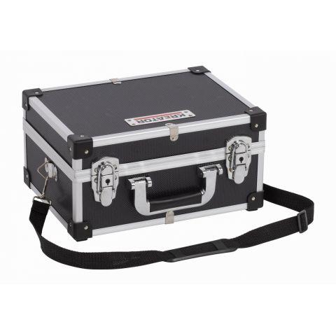 KRT640106B Hliníkový kufr 320x230x160mm černý KREATOR