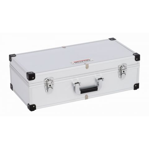 KRT640280S Hliníkový kufr na 80CD stříbrný KREATOR