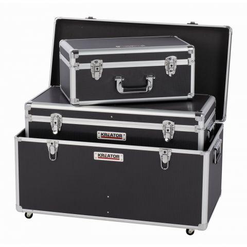 KRT640501B Hliníkový kufr 3 IN 1 XL černý KREATOR
