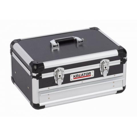 KRT640601B Hliníkový kufr 430x300x205mm 1 zásuvka KREATOR
