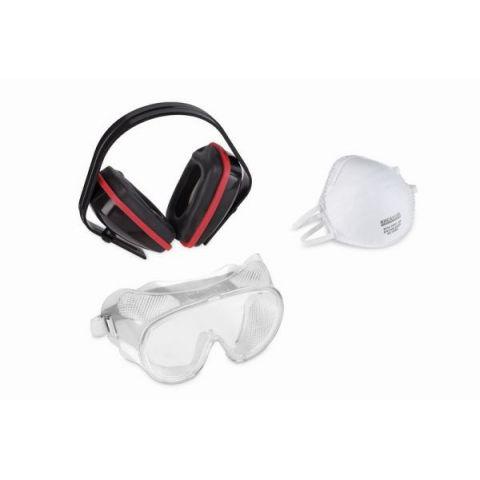 KRTS60001 - Ochranná sada (sluchátka, brýle, respirátor) KREATOR