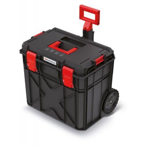 Kufr na nářadí s kolečky X BLOCK PRO černý 546x380x510 KISTENBERG