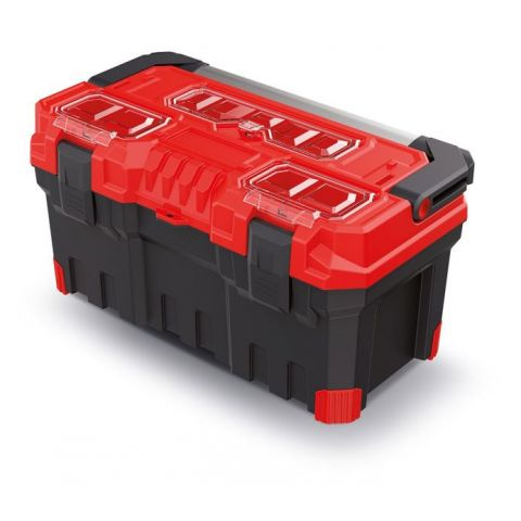 Kufr na nářadí s kovovým držadlem TITAN PLUS červený 554x286x276 KISTENBERG